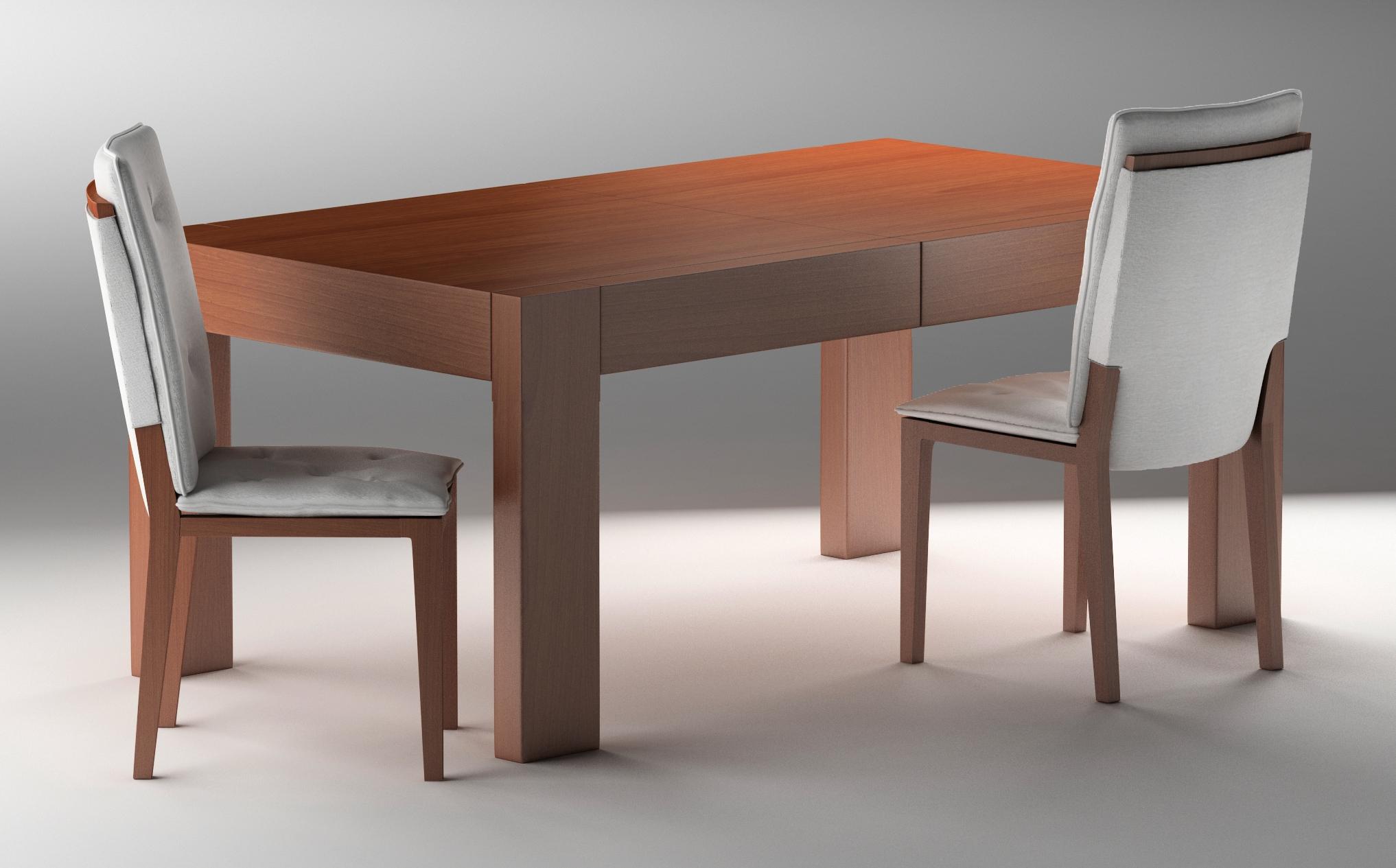 Stół CENTRAL i krzesło CENTRAL netl