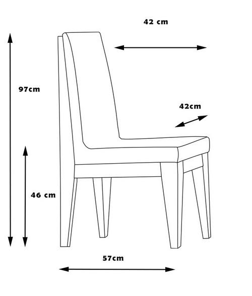 Krzesło CENTRAL wymiary