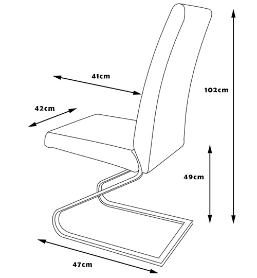 Krzesło K-320 wymiary