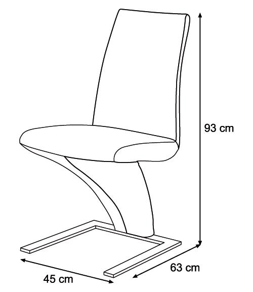 Krzesło K-375 wymiary
