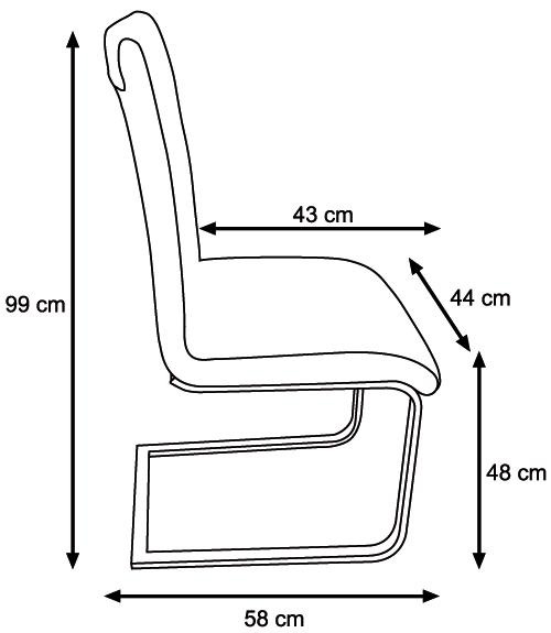 Krzesło K-380 wymiary