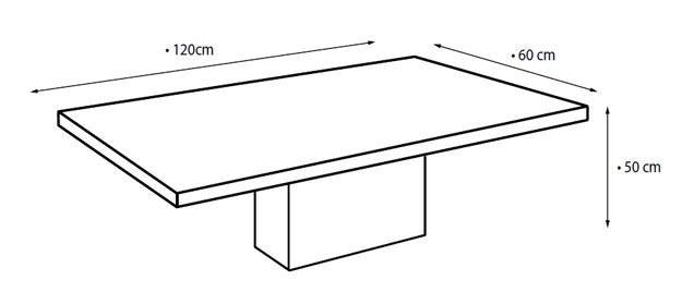 Ława SYNCHRONIC GLASS kwadrat wymiar